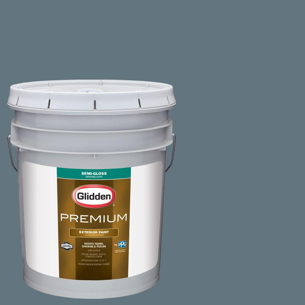 5-gal. #HDGB64 Connecticut Blue Semi-Gloss Latex Exterior Paint