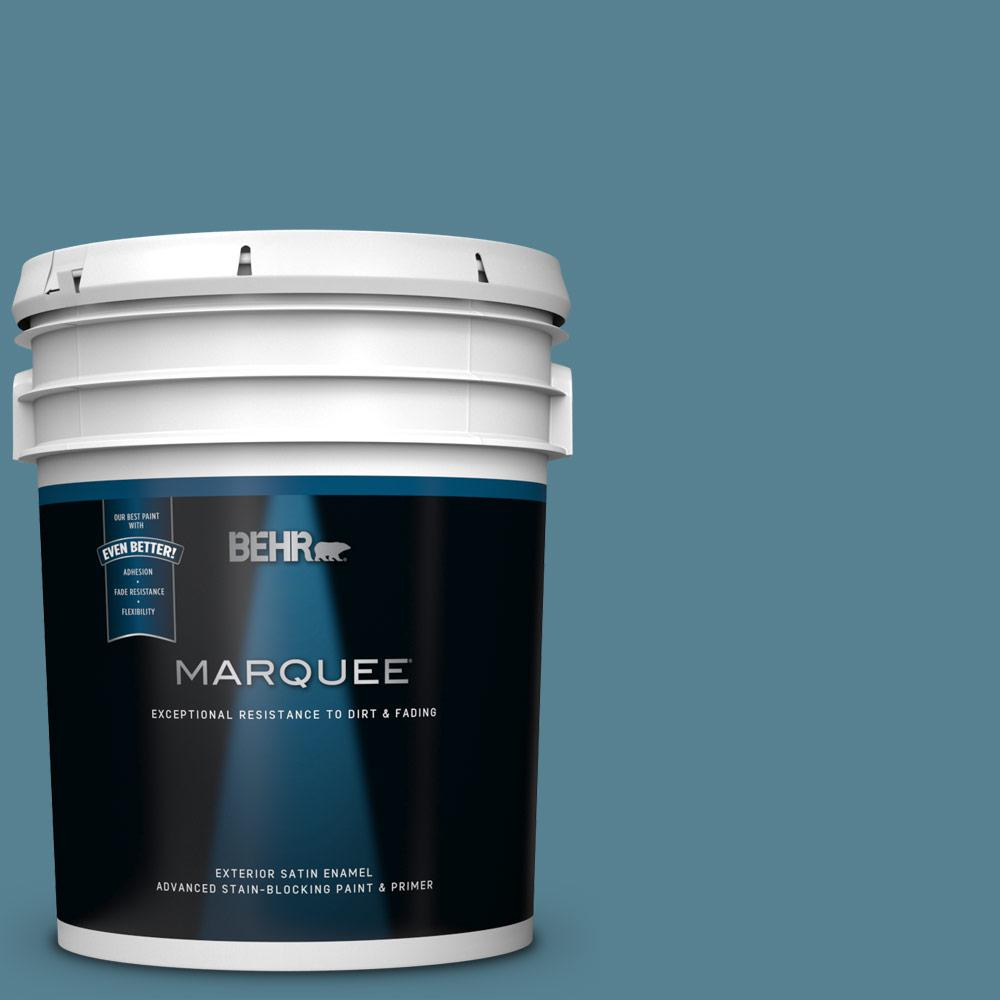 5 gal. #S470-5 Blueprint Satin Enamel Exterior Paint and Primer in One