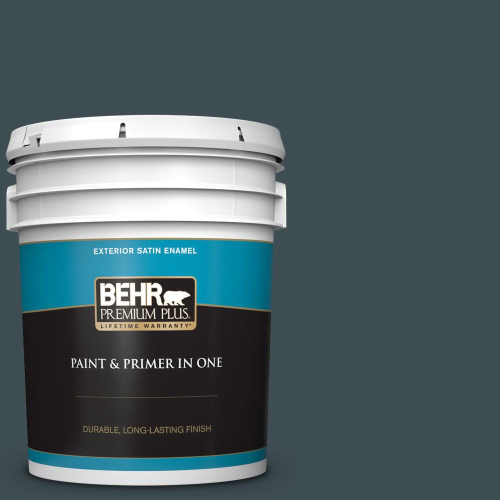 5 gal. #S440-7 Thermal Satin Enamel Exterior Paint and Primer in One