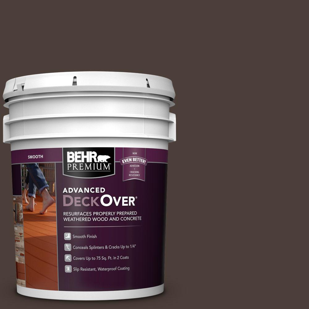5 gal. #SC-103 Coffee Smooth Solid Color Exterior Wood and Concrete Coating