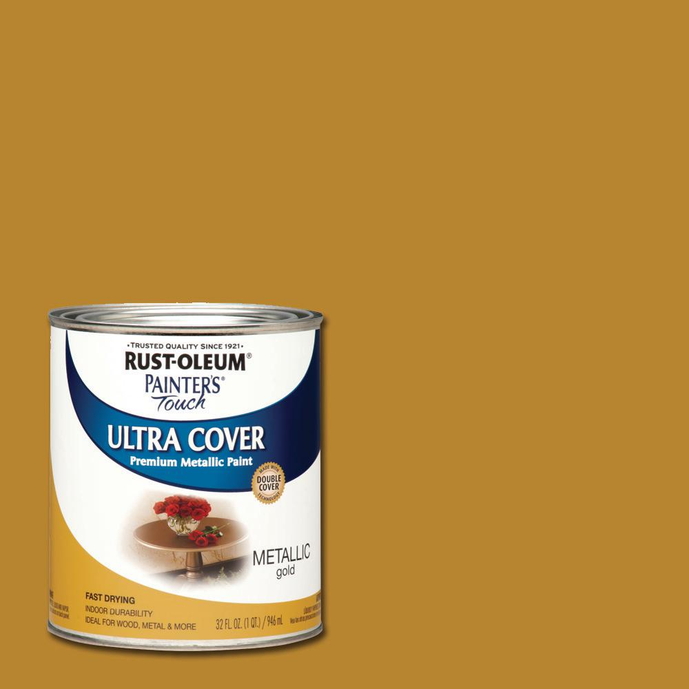 32 oz. Ultra Cover Metallic Gold General Purpose Paint (Case of 2)