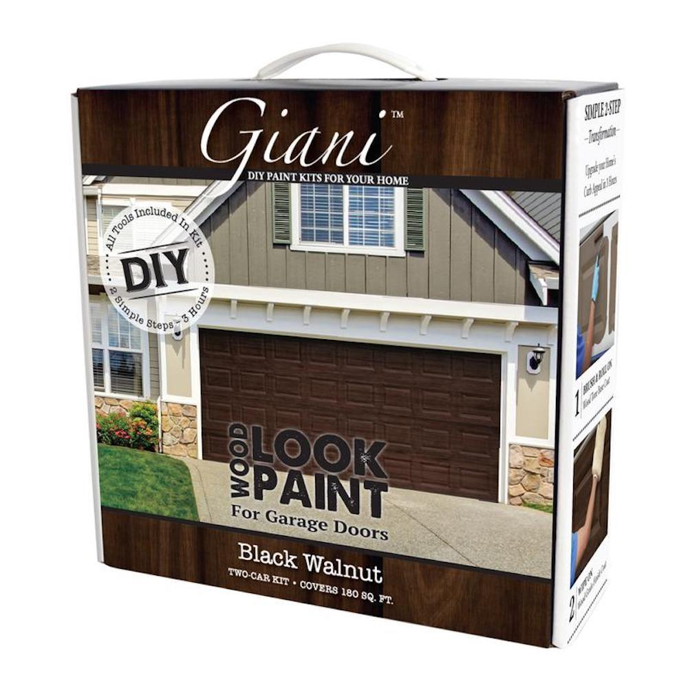 Black Walnut 2 Car Garage Kit