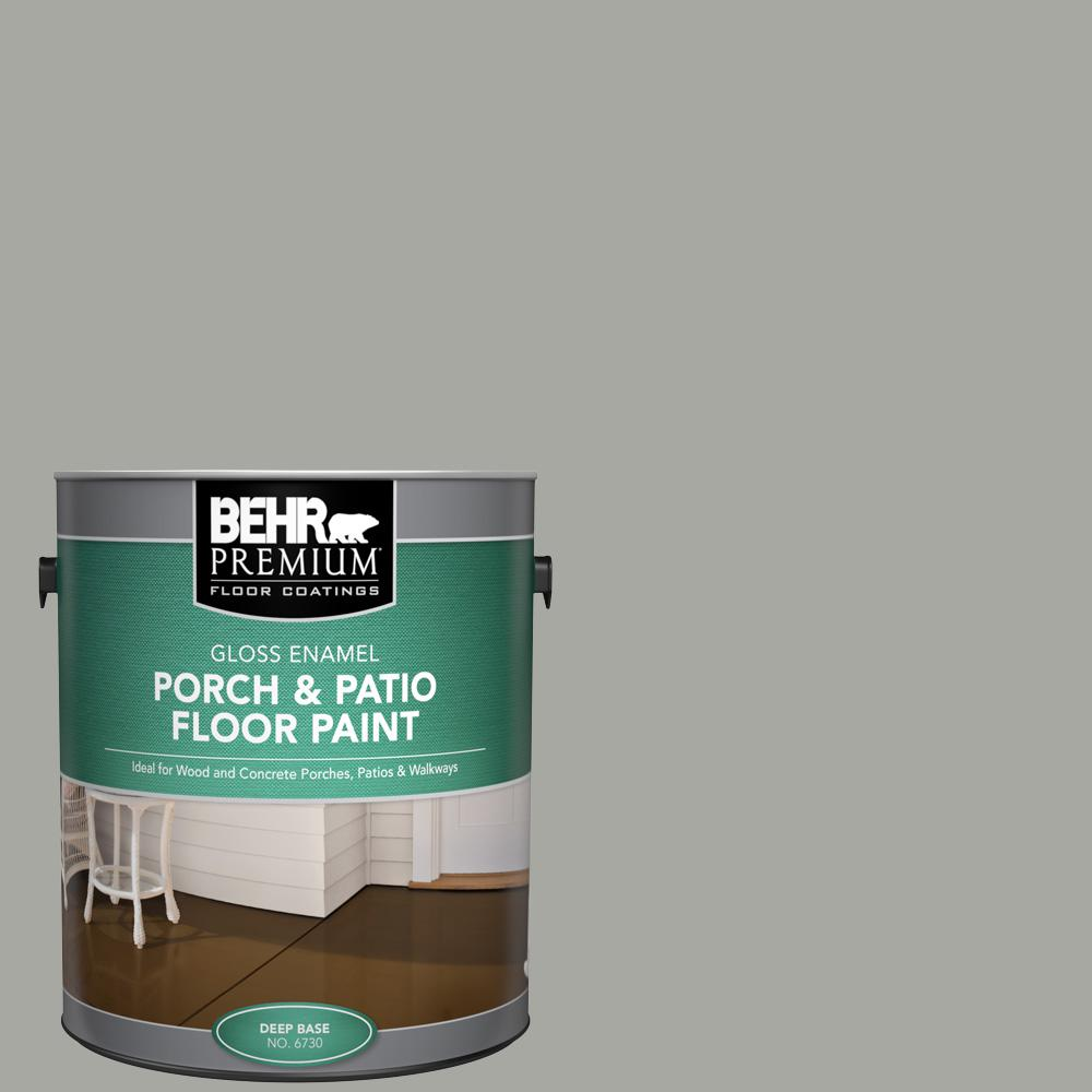 1 gal. #PFC-68 Silver Gray Gloss Enamel Interior/Exterior Porch and Patio Floor Paint