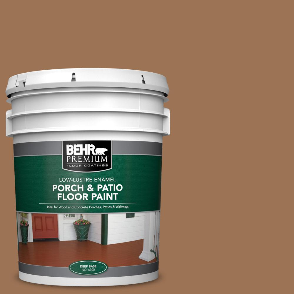 5 gal. #S240-6 Ranch Brown Low-Lustre Enamel Interior/Exterior Porch and Patio Floor Paint