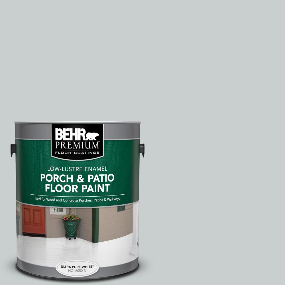 1 gal. #PFC-61 Foggy Morn Low-Lustre Enamel Interior/Exterior Porch and Patio Floor Paint