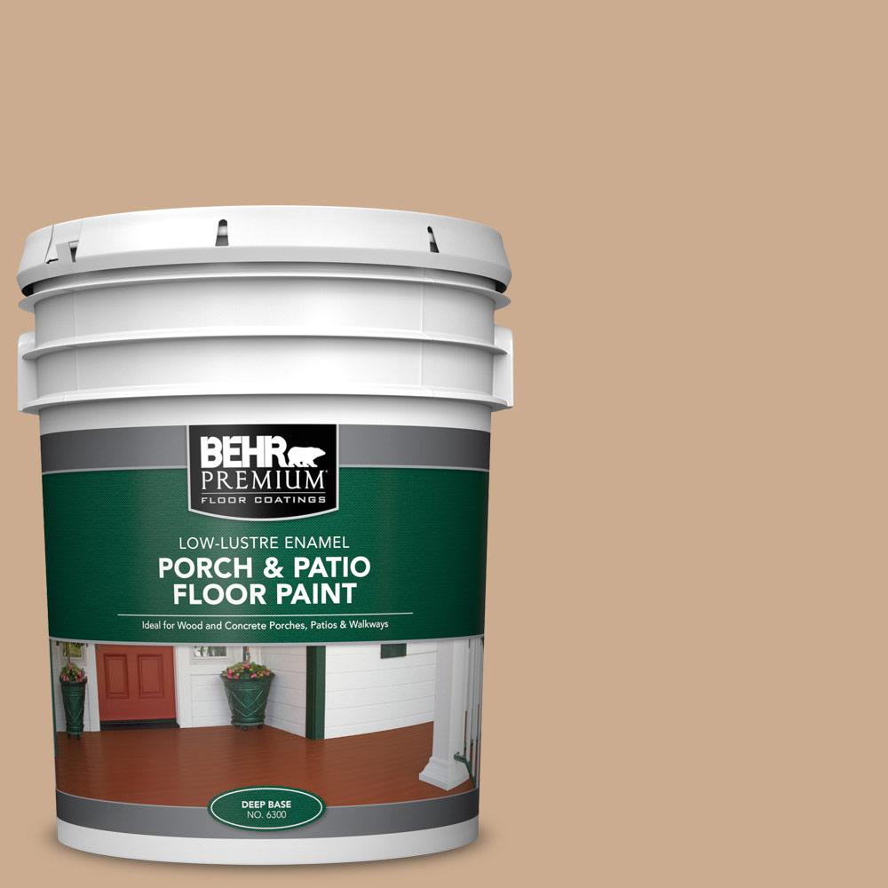 5 gal. #N250-3 Pottery Wheel Low-Lustre Enamel Interior/Exterior Porch and Patio Floor Paint