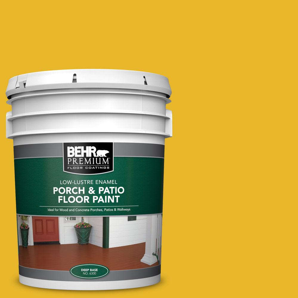 5 gal. #OSHA-6 OSHA SAFETY YELLOW Low-Lustre Enamel Interior/Exterior Porch and Patio Floor Paint