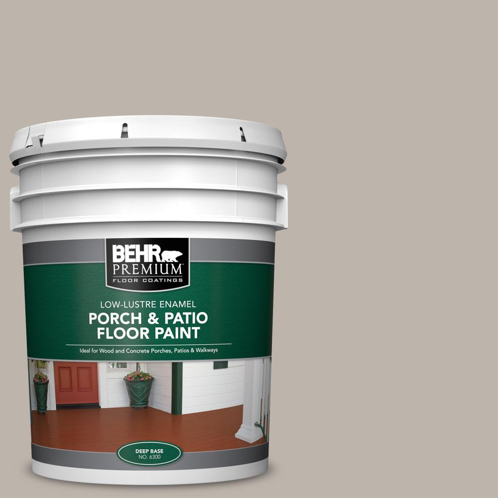 5 gal. Home Decorators Collection #HDC-CT-21 Grey Mist Low-Lustre Enamel Interior/Exterior Porch and Patio Floor Paint
