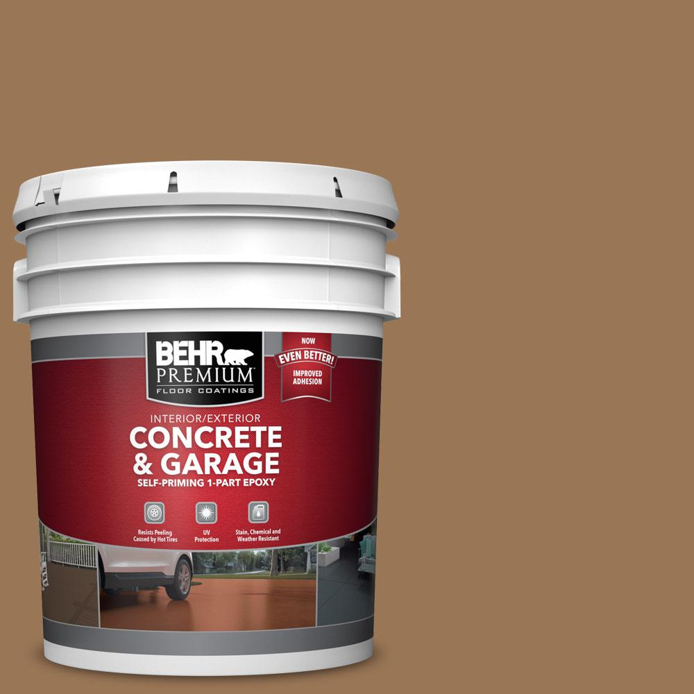 5 gal. #PPU4-02 Coco Rum 1-Part Epoxy Satin Interior/Exterior Concrete and Garage Floor Paint