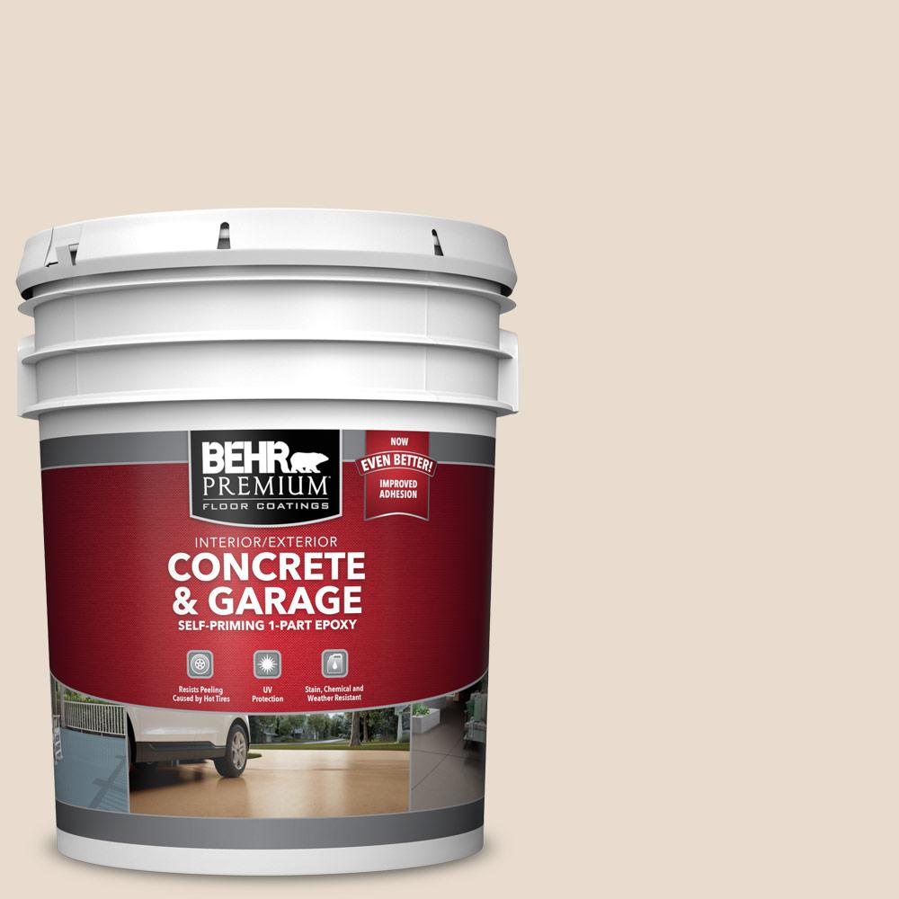 5 gal. #OR-W11 White Mocha 1-Part Epoxy Satin Interior/Exterior Concrete and Garage Floor Paint