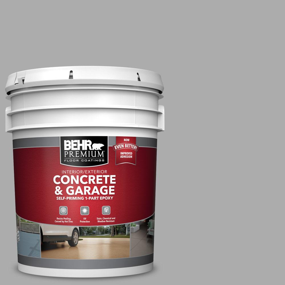 5 gal. #N520-3 Flannel Gray 1-Part Epoxy Satin Interior/Exterior Concrete and Garage Floor Paint