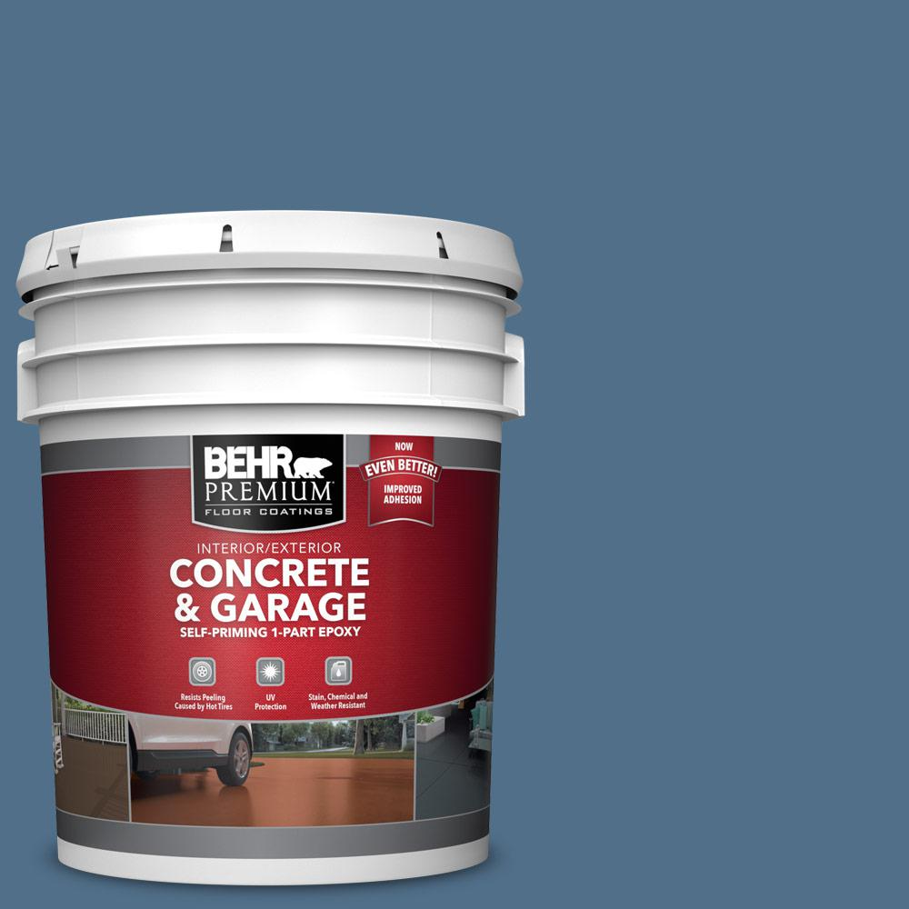 5 gal. #S520-6 Layers of Ocean 1-Part Epoxy Satin Interior/Exterior Concrete and Garage Floor Paint