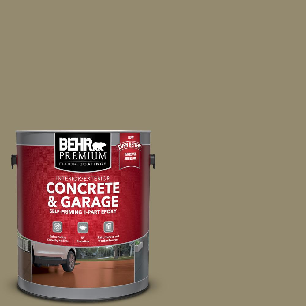 1 gal. #PFC-34 Woven Willow Self-Priming 1-Part Epoxy Satin Interior/Exterior Concrete and Garage Floor Paint